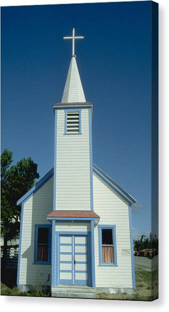 Church In Alaska Canvas Print by Carl Purcell