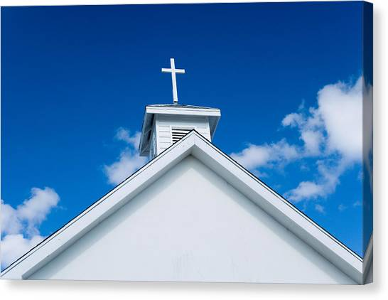 Church In Bahamas Canvas Print by Richard Steinberger