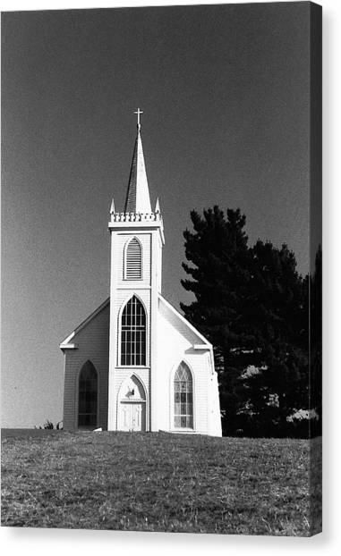 Church In Bodega Canvas Print
