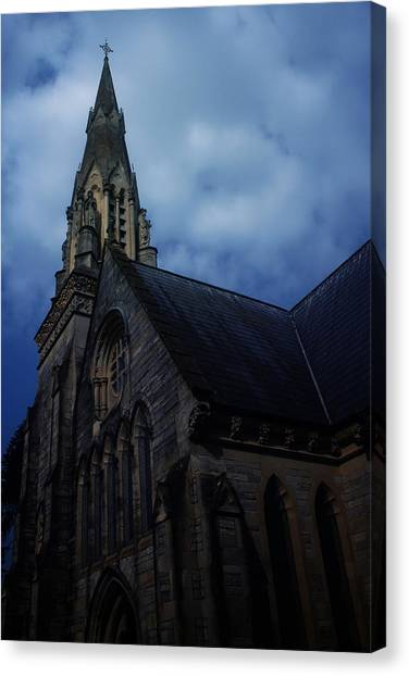 Uk Canvas Print - Church In Bournemouth - Uk by Cambion Art