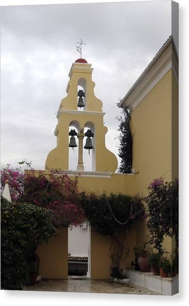 Church In Corfu Canvas Print