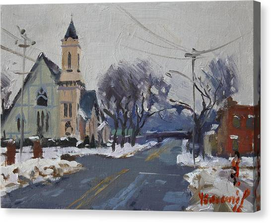 Niagara Falls Canvas Print - Church In North Tonawanda by Ylli Haruni