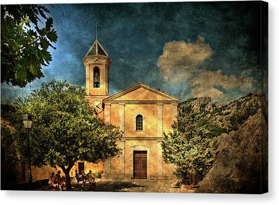 Church In Peillon Canvas Print