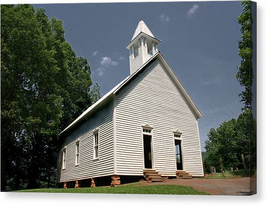 Church In The Cove Canvas Print by Barry Jones
