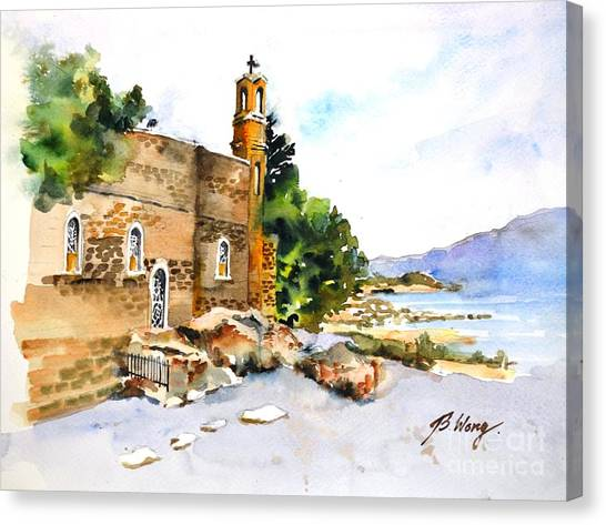 Church Of Primacy, Galilee Canvas Print