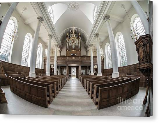 Harry Truman Canvas Print - Church Of Saint Mary - Aldermanbury by David Bearden