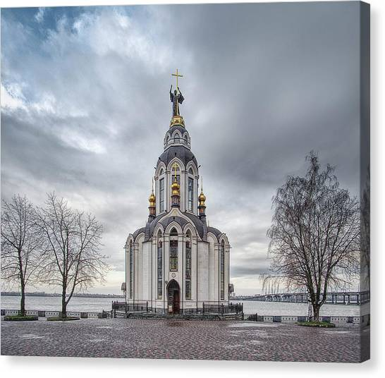 Church Of St. John The Baptist, St. 2. Dnipro, 2017. Canvas Print