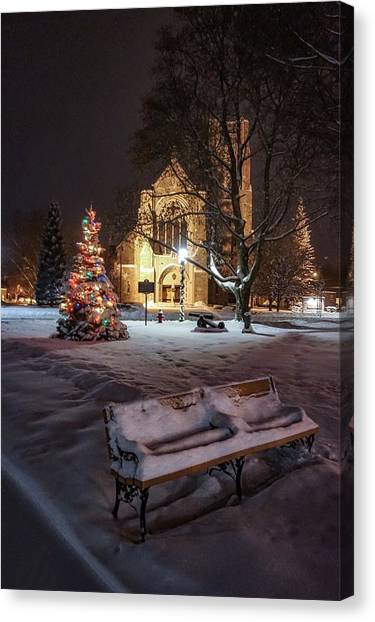 Church Of St Mary St Paul At Christmas Canvas Print
