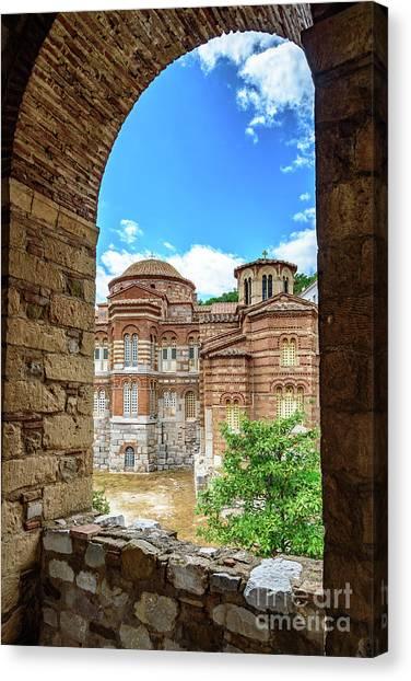 St Kyriaki Canvas Print - Church Of The Holy Luke At Monastery Of Hosios Loukas In Greece by Global Light Photography - Nicole Leffer