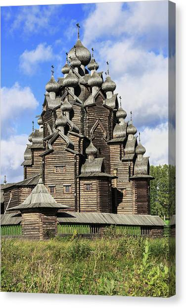 Church Of The Intercession Of The Blessed Virgin Mary, A Unique Monument Of Church Architecture Of A Canvas Print