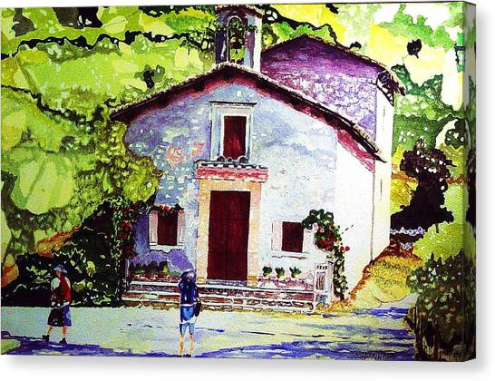 Church Of The Roses Italy Canvas Print by Tom Herrin