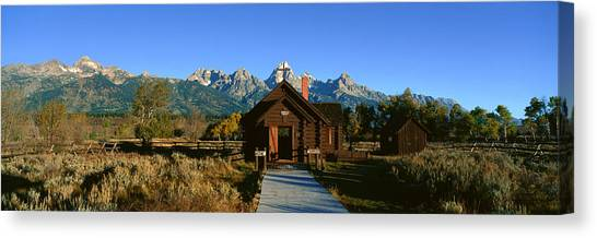 House Of Worship Canvas Print - Church Of Transfiguration, Grand Teton by Panoramic Images