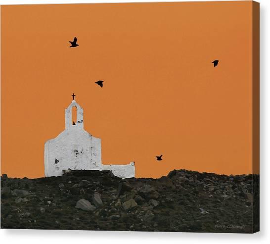 Church On A Hill Canvas Print
