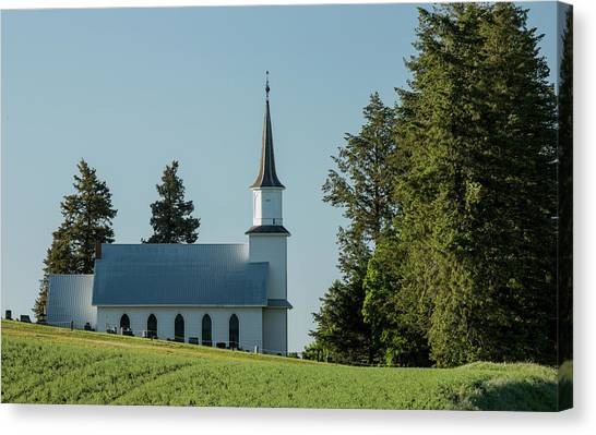 Church On The Hill Canvas Print