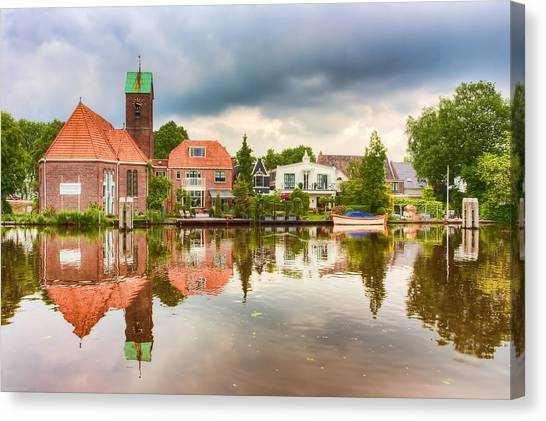 Church Reflections Canvas Print
