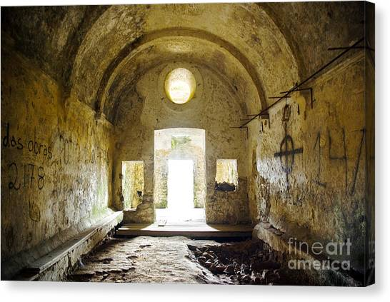 Dungeon Canvas Print - Church Ruin by Carlos Caetano