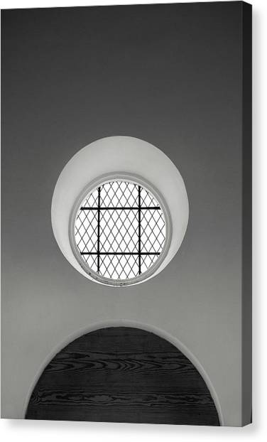Church Window In Black And White Canvas Print