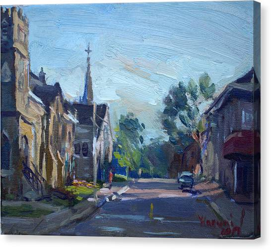 Ontario Canvas Print - Churche In Downtown Georgetown On by Ylli Haruni