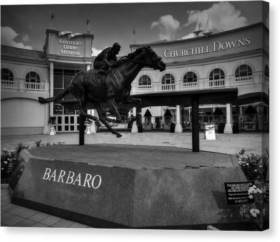 Churchill Downs 001 Bw Canvas Print