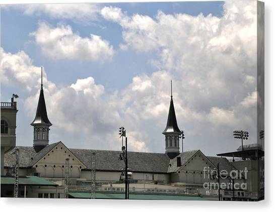 Belmont University Canvas Print - Churchill Downs Steeples by Douglas Sacha
