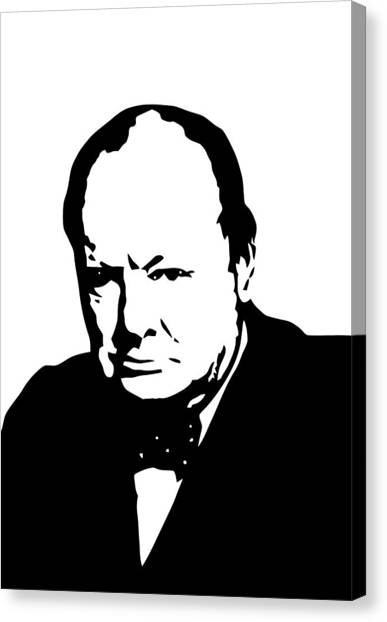 Hero Canvas Print - Churchill by War Is Hell Store