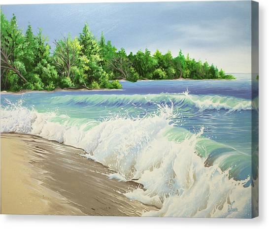 Churning Sand  Canvas Print