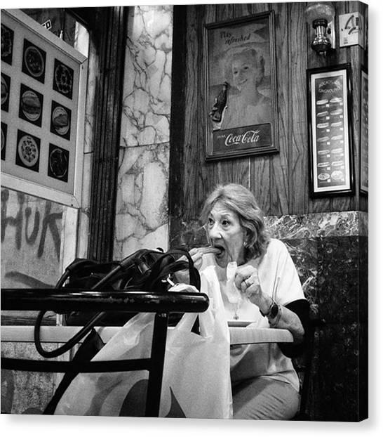 Bar Canvas Print - Churro'clock  #lady #woman #food by Rafa Rivas