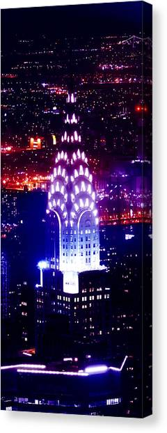 Chrysler Building Canvas Print - Chyrsler Lights by Az Jackson