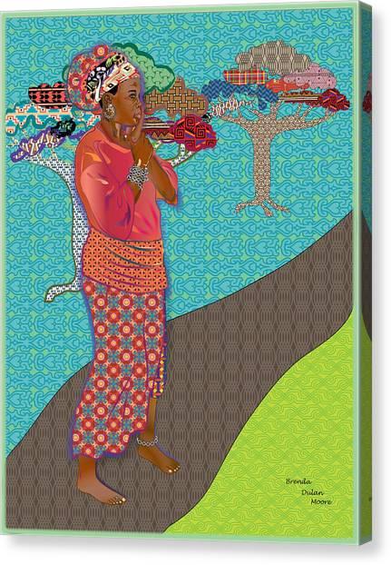 Ci Vi's Quilt Canvas Print