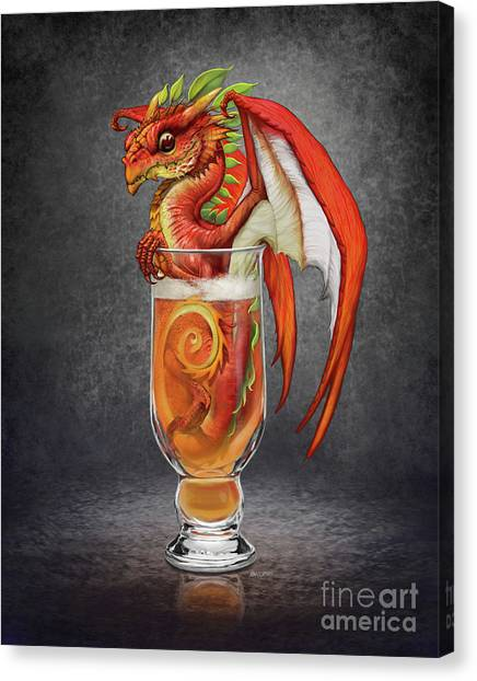 Cider Canvas Print - Cider Dragon by Stanley Morrison