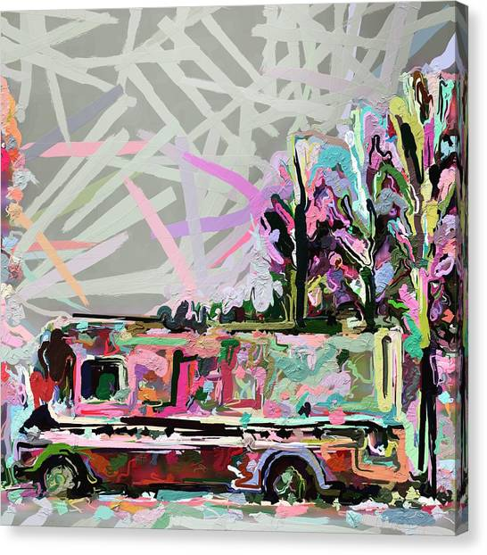 Canvas Print - Cider Hill Food Truck by Modern Art