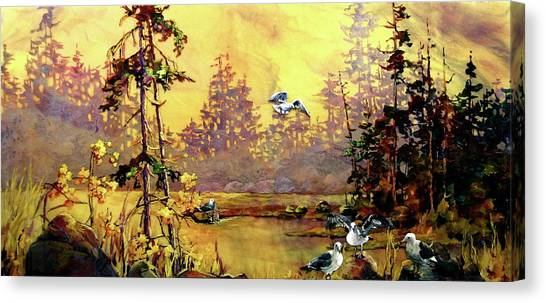 Ciel De Jaune Canvas Print by Bonny Roberts