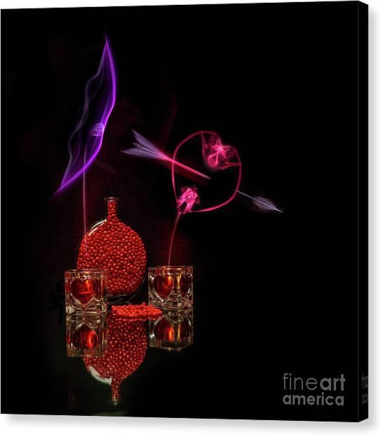 Cinnamon Hearts Canvas Print