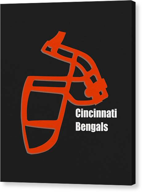 Cincinnati Bengals Canvas Print - Cincinnati Bengals Retro by Joe Hamilton