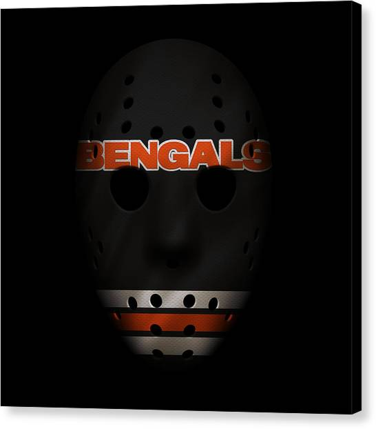 Cincinnati Bengals Canvas Print - Cincinnati Bengals War Mask 4 by Joe Hamilton