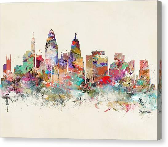Cincinnati City Skyline Canvas Print