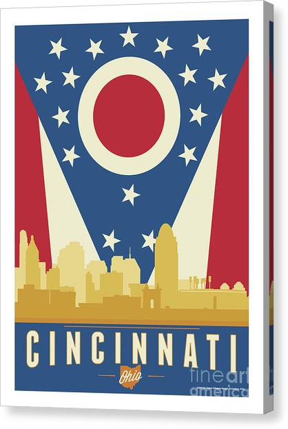 Ohio Valley Canvas Print - Cincinnati - Ohio Burgee by Buckland Gillespie