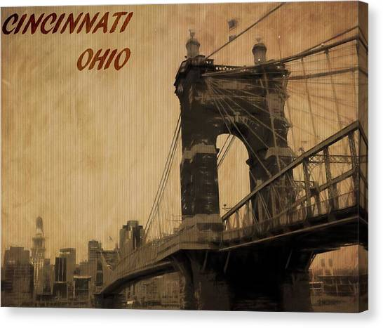 Cincinnati Reds Canvas Print - Cincinnati Ohio by Dan Sproul