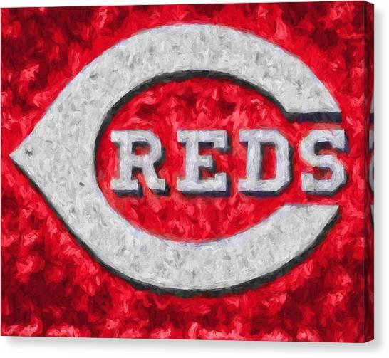 Cincinnati Reds Canvas Print - Cincinnati Reds On Canvas by Dan Sproul