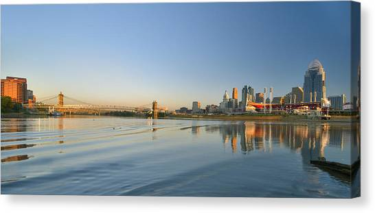 Cincinnati Riverfront Panorama Canvas Print