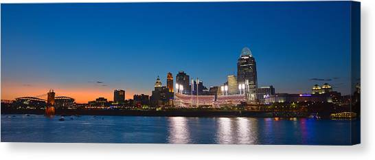 Cincinnati Skyline Sunset Canvas Print