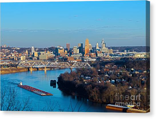 Cincinnati View From The West Canvas Print