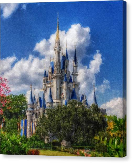 Cinderella Castle Summer Day Canvas Print
