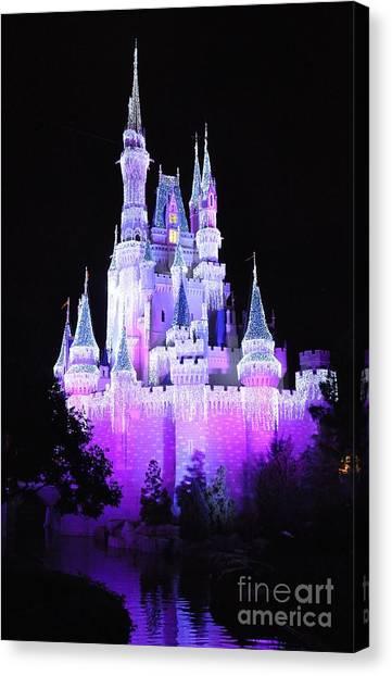 Cinderella's Holiday Castle Canvas Print