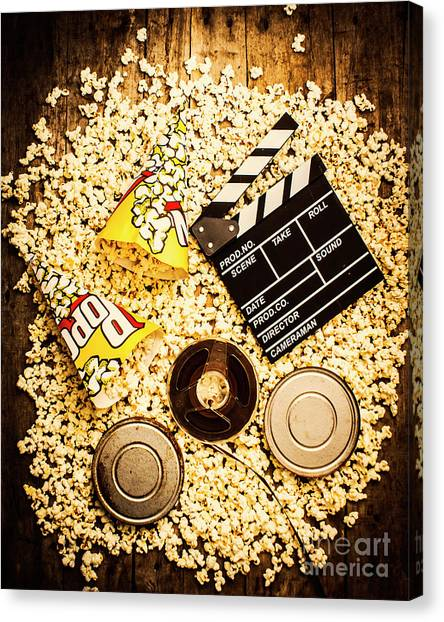 Popcorn Canvas Print - Cinema Of Entertainment by Jorgo Photography - Wall Art Gallery