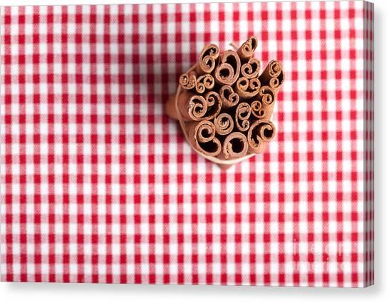 Chequered Canvas Print - Cinnamon by Nailia Schwarz