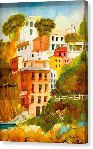 Cinque Terre Canvas Print by KC Winters