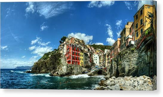 Cinque Terre - View Of Riomaggiore Canvas Print
