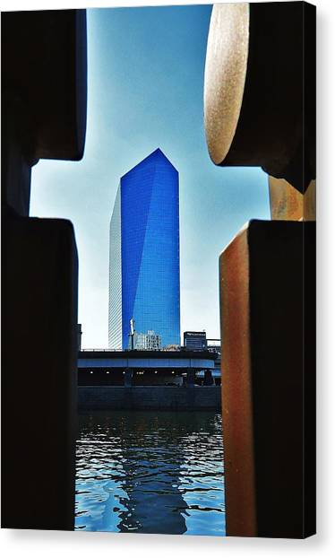 Cira Behind Bars Canvas Print by Andrew Dinh