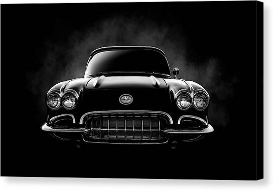 Chevrolet Corvette Canvas Print - Circa '59 by Douglas Pittman